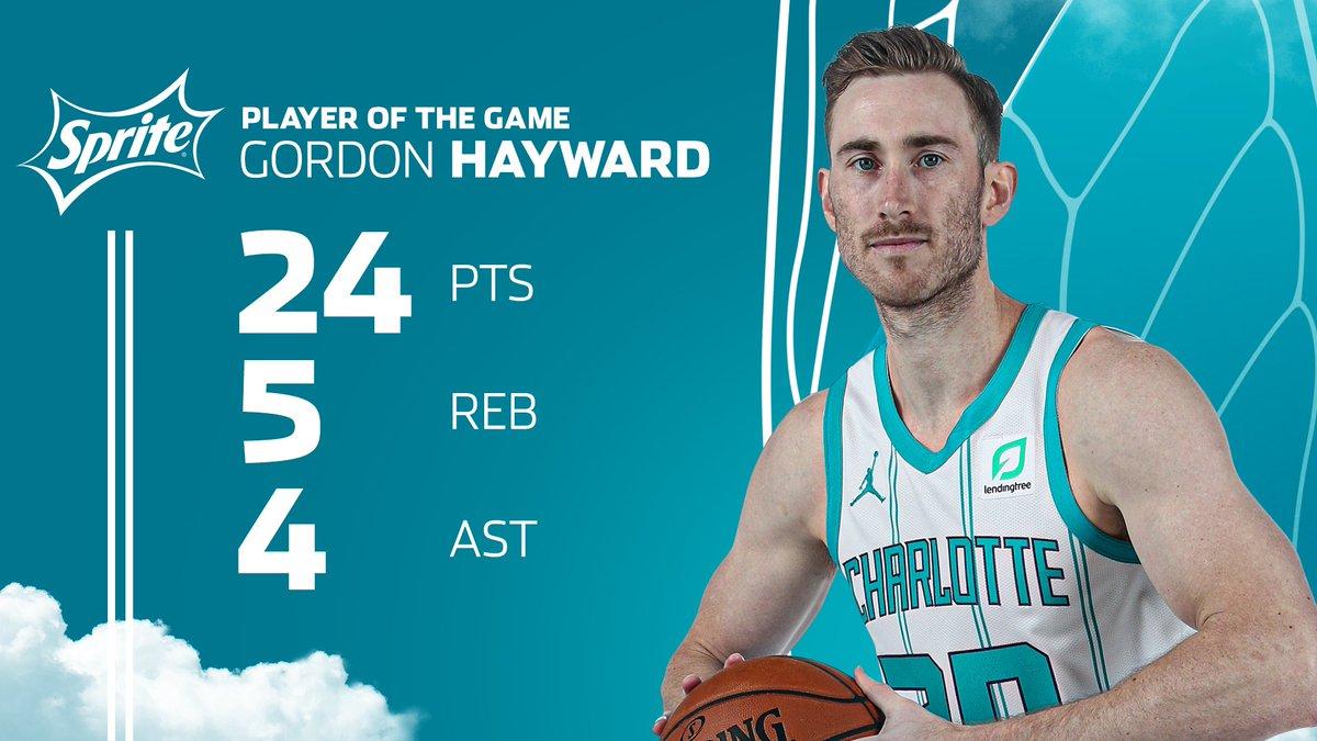 Tonight's @Sprite Player of the Game is @gordonhayward  #AllFly