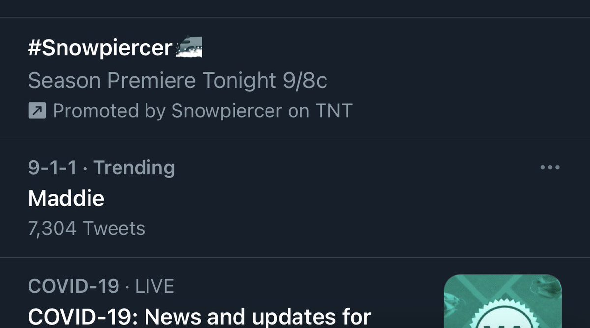 wait we got maddie trending as we should, madney stans rise 😌 #911onFOX
