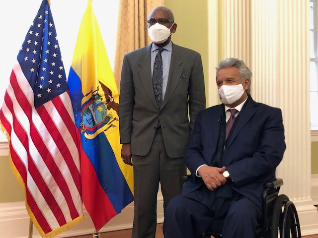 Chairman @RepGregoryMeeks: Enjoyed meeting with Ecuadorian President @Lenin to discuss our commitment to strengthening the economic and political ties between our countries.