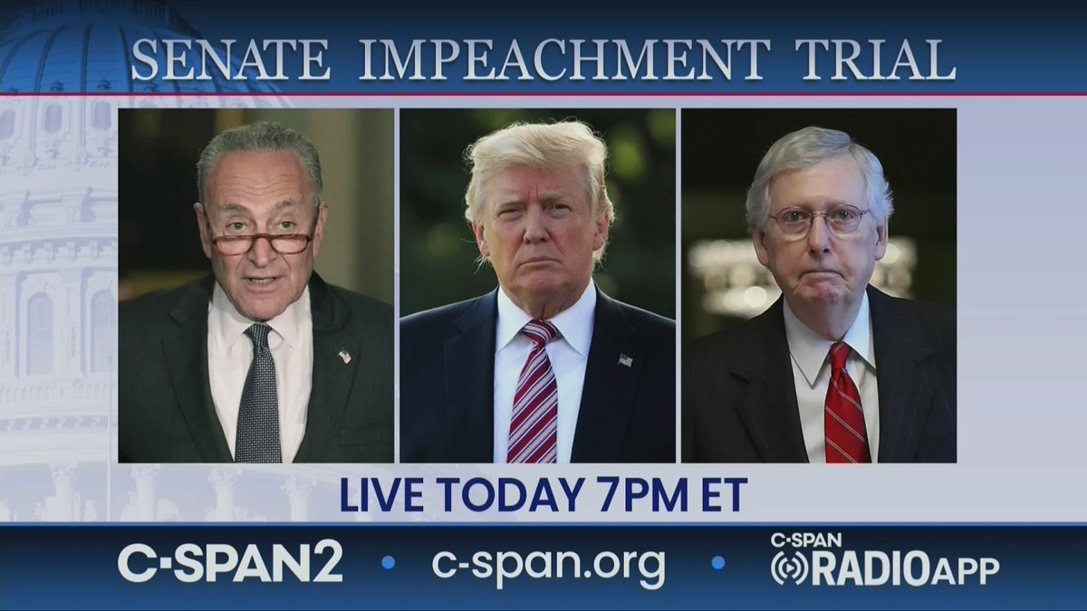 Delivery of Article of Impeachment to U.S. Senate - LIVE at 6:55pm ET on C-SPAN