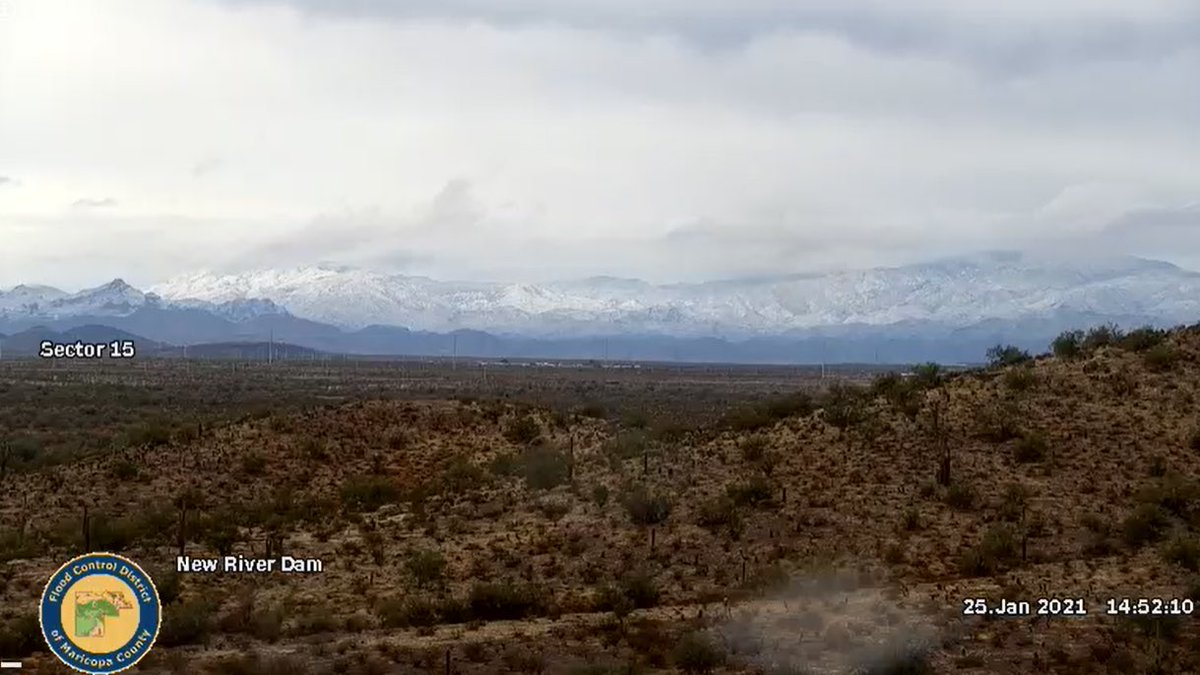 RT @FCDFloodInfo: A view of the Bradshaws,looking North from New River Dam. #azwx https://t.co/rplFXfsf3J