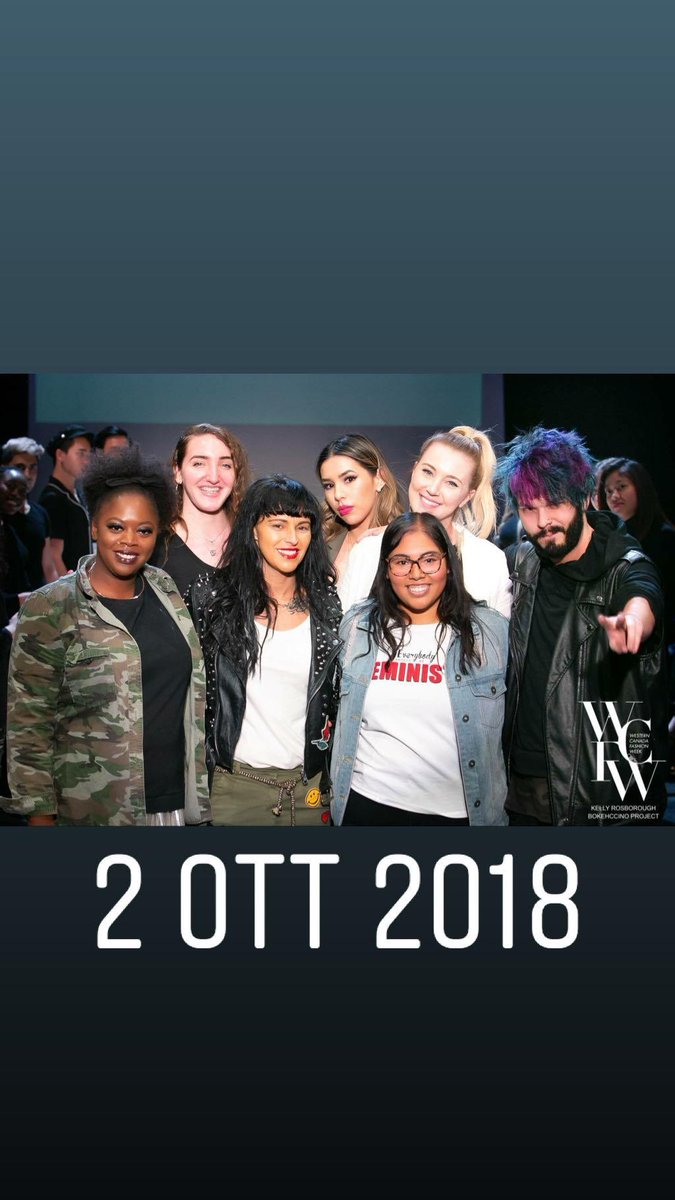 I came across this pic of #fashionweek in Edmonton in 2018 & it brought back some good memories! I loved being able to do #makeup for that event! what's something you love doing? 💄😊  #wcfw #fashion #photography