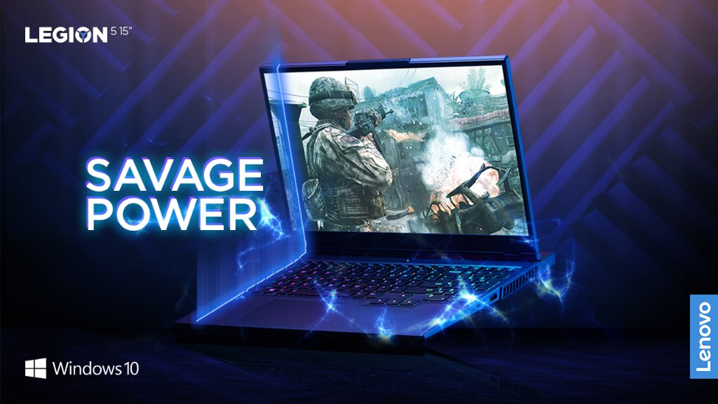 "Seriously powerful.   The Legion 5 15"" is built with all new AMD Ryzen™ 5000 H Series Mobile Processors and NVIDIA® GeForce RTX™ 30 Series Laptop GPUs.  With advanced graphics performance via DirectX 12 Ultimate, @windows 10 unlocks the full potential of your system's hardware."