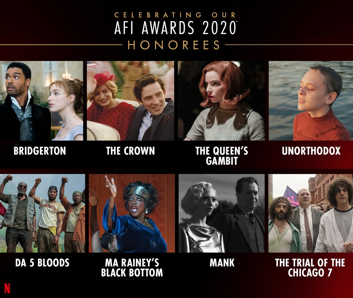 Congratulations to all of our @AmericanFilm Movies of the Year and Television Programs of the Year honorees