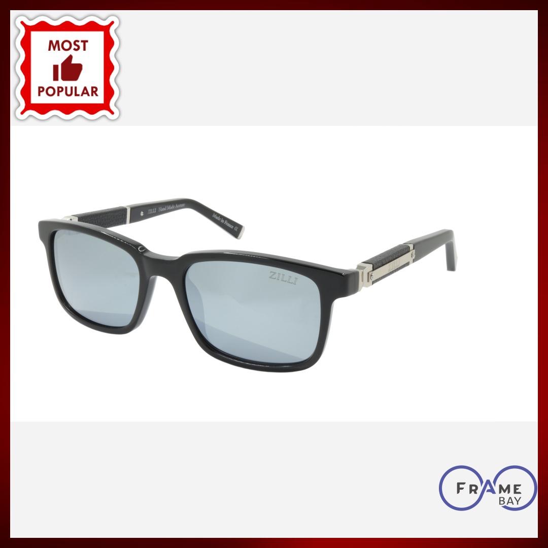 #handmade #frames ZILLI Sunglasses Titanium Acetate Leather Polarized France Handmade ZI 65011 C04