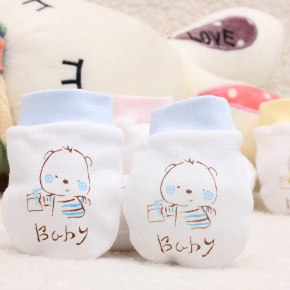 Cute Cartoon Knitted Baby Mittens #pregnancy #handmade