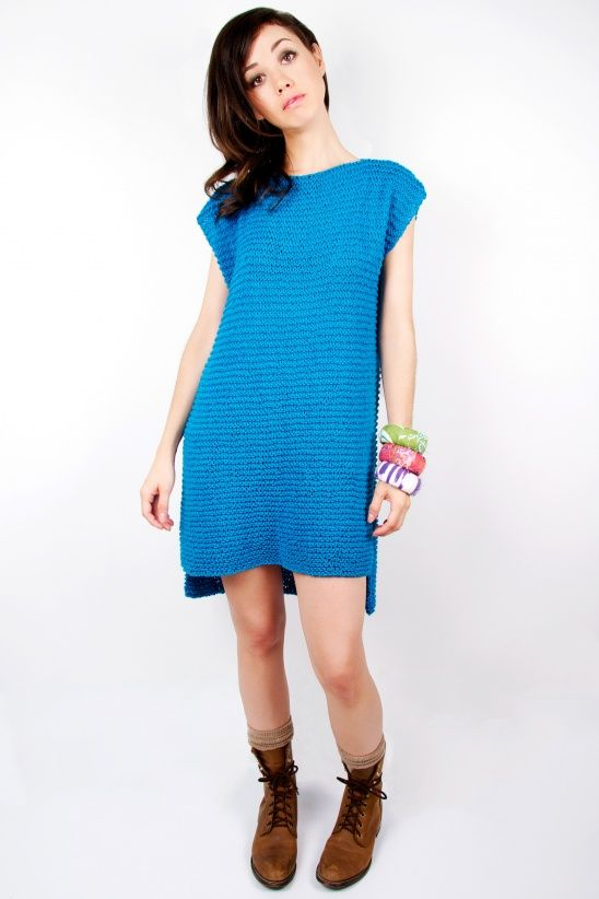 Easy To Make and Fun to Wear, Get This 'Yoshimi Knit Dress' On Your Needles Now: 👉  #handmade #knit #knitting #diy