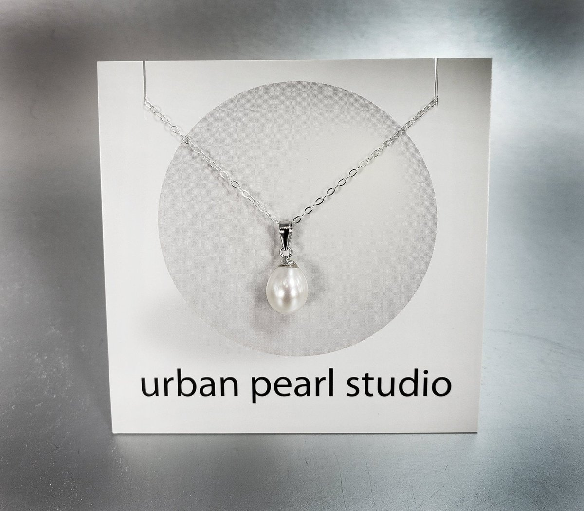 Pearl Necklace Pearl Pendant On 18 Inch Silver Chain PN450  #handmade #giftsforher #etsy #pearlnecklace #lovejewelry #handmadejewelry