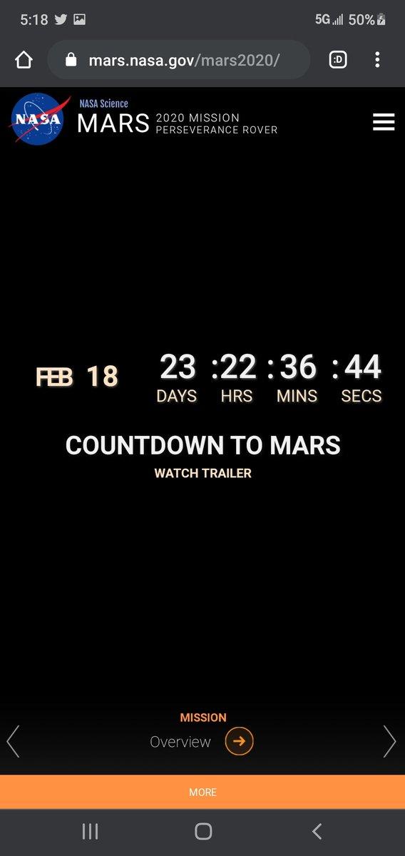 #countdowntomars