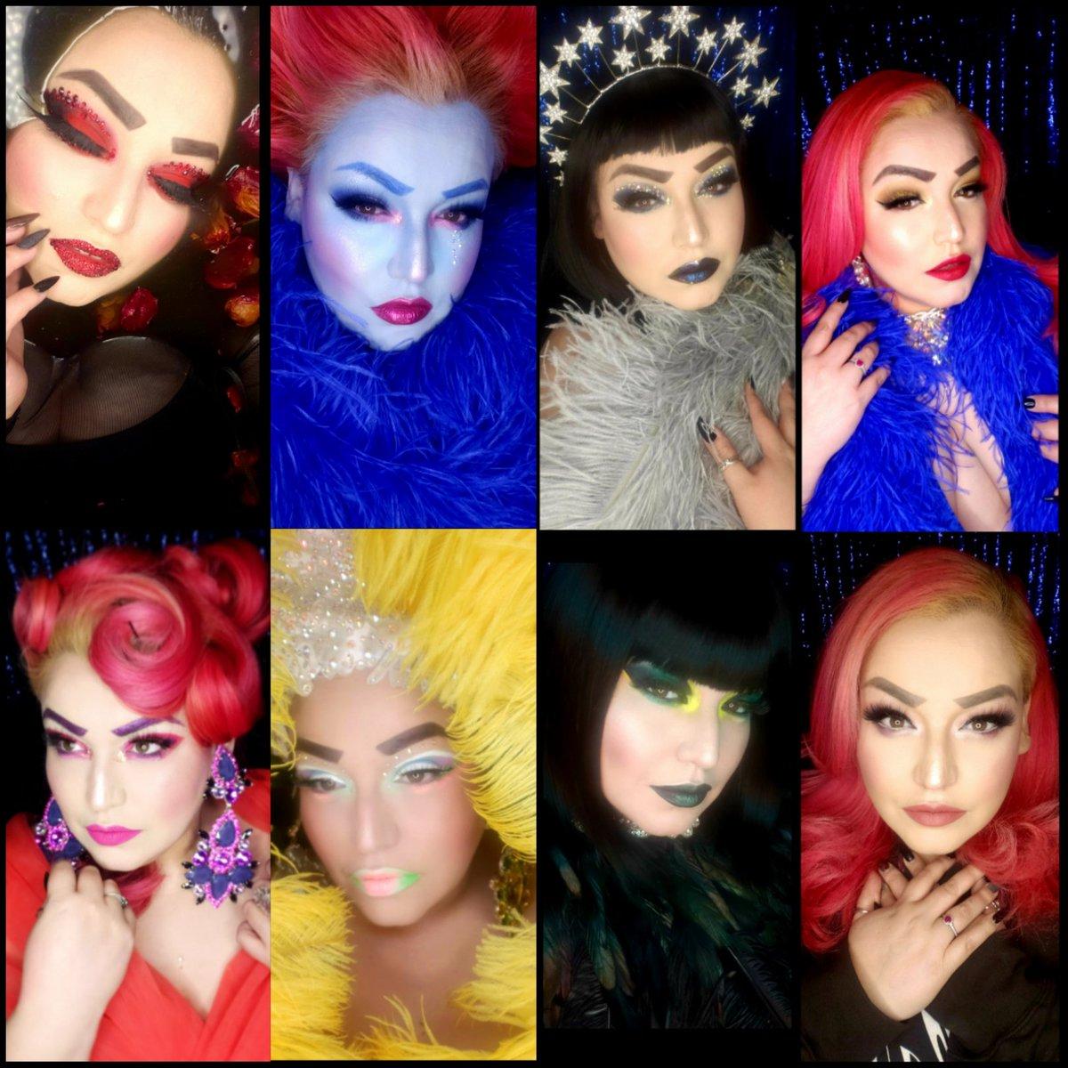 Last weeks looks! What's your favorite? #makeup