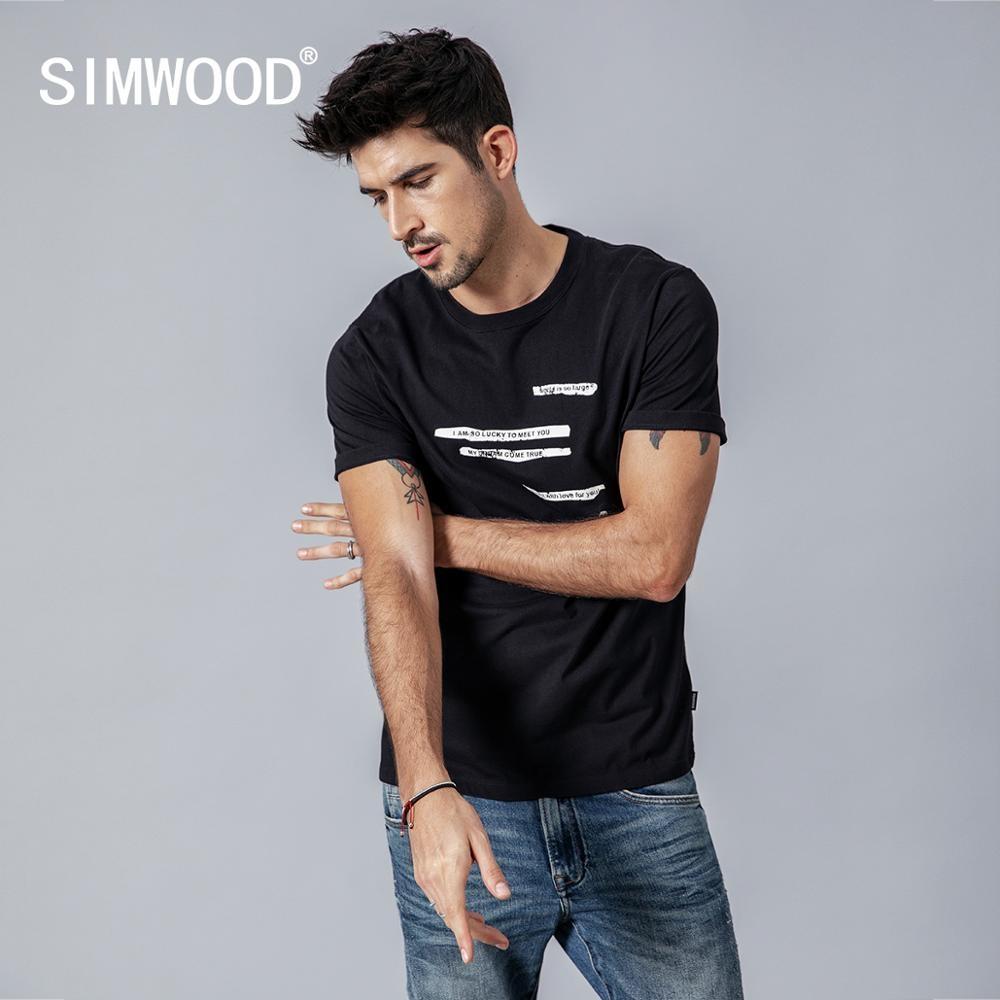 #swag #summer 2019 summer new letter print t-shirt men vintage short sleeve