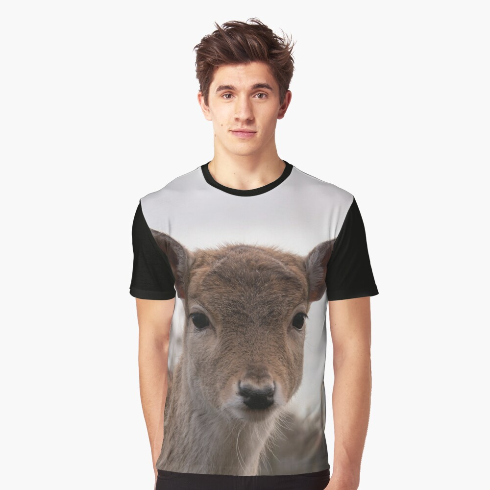 A lovely photograph of a deer on a #tshirt, #pillow and #facemask. A lovely #giftidea for a friend or family member.😀  Click here for more info:  #redbubble #StaySafe #findyourthing #tshirtdesign #safeplanet #gift #photography #photo #deer