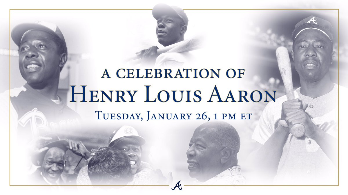 Replying to @Braves: A Celebration #For44  Tune-in information: