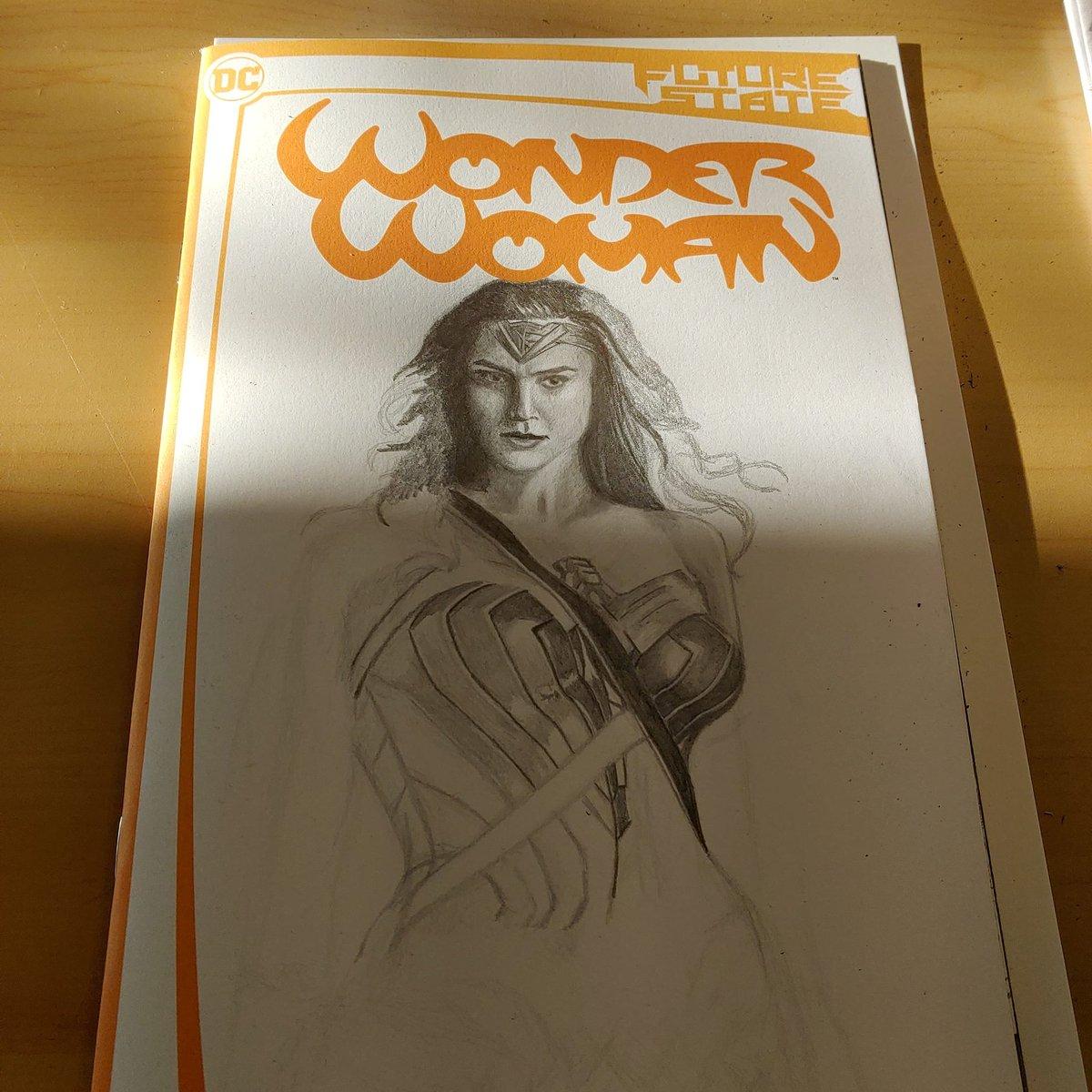 Started a Wonder Woman commission cover. #WonderWoman #GalGadot