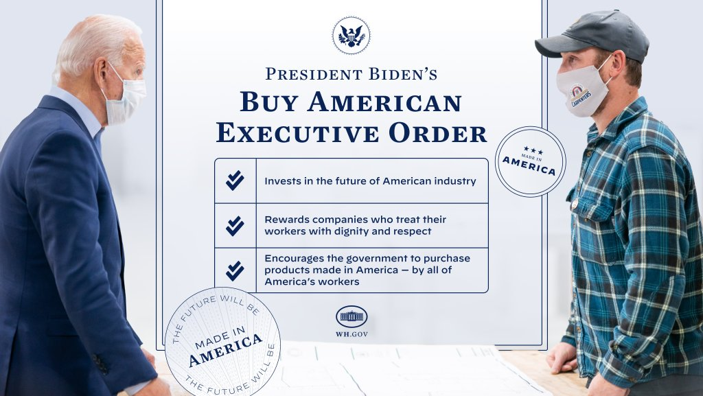 I believe there's no greater economic engine in the world than the hard work and ingenuity of the American people. Today's Buy American Executive Order will invest in the future of American industry and ensure workers are treated with the dignity and respect they deserve.