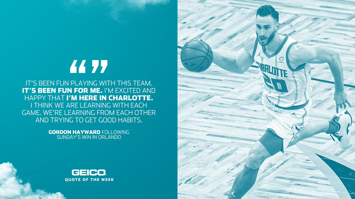 Nothing but positive vibes from our guy @gordonhayward 🙌🏾  #AllFly | @GEICO
