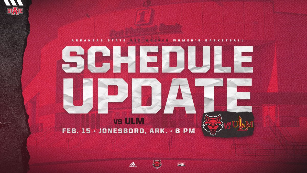 We're making up 1️⃣ of our home #SunBeltWBB games versus ULM!   📅: Monday, Feb. 15 🕕: 6:00 p.m. 📰: https://t.co/u7axF1J0bk  #WolvesUp🐺 I #Team1stWins https://t.co/VWgYOFsTiM
