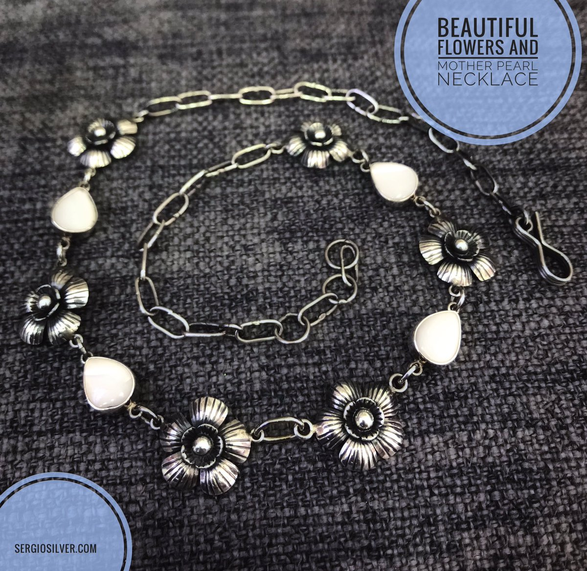 Beautiful flowers design and mother pearl oxidized silver necklace #sergiosilvercoz #cozumel #shop #shopping #silverjewelry #taxcojewelry #flowerjewelry #silver #flower #flowers #womenfashion #fashion #women #eshop #shoponline #onlineshop #onlineshopping #necklace #motherofpearl