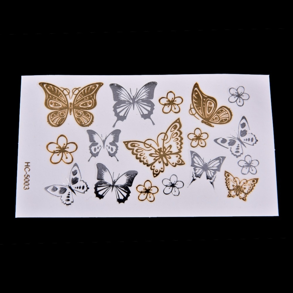 Silver / Gold Butterfly Temporary Tattoo Stickers #style #girl #pretty