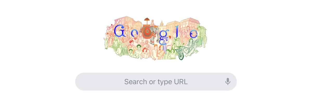 """Today's Doodle has been illustrated by Mumbai-based artist Onkar Fondekar. """"I drew inspiration from the people of India—the culture, traditions, history, and architecture,"""" he explains.  #India #RepublicDay #RepublicDay2021  #Google #GoogleDoodle #Unity #diversity"""