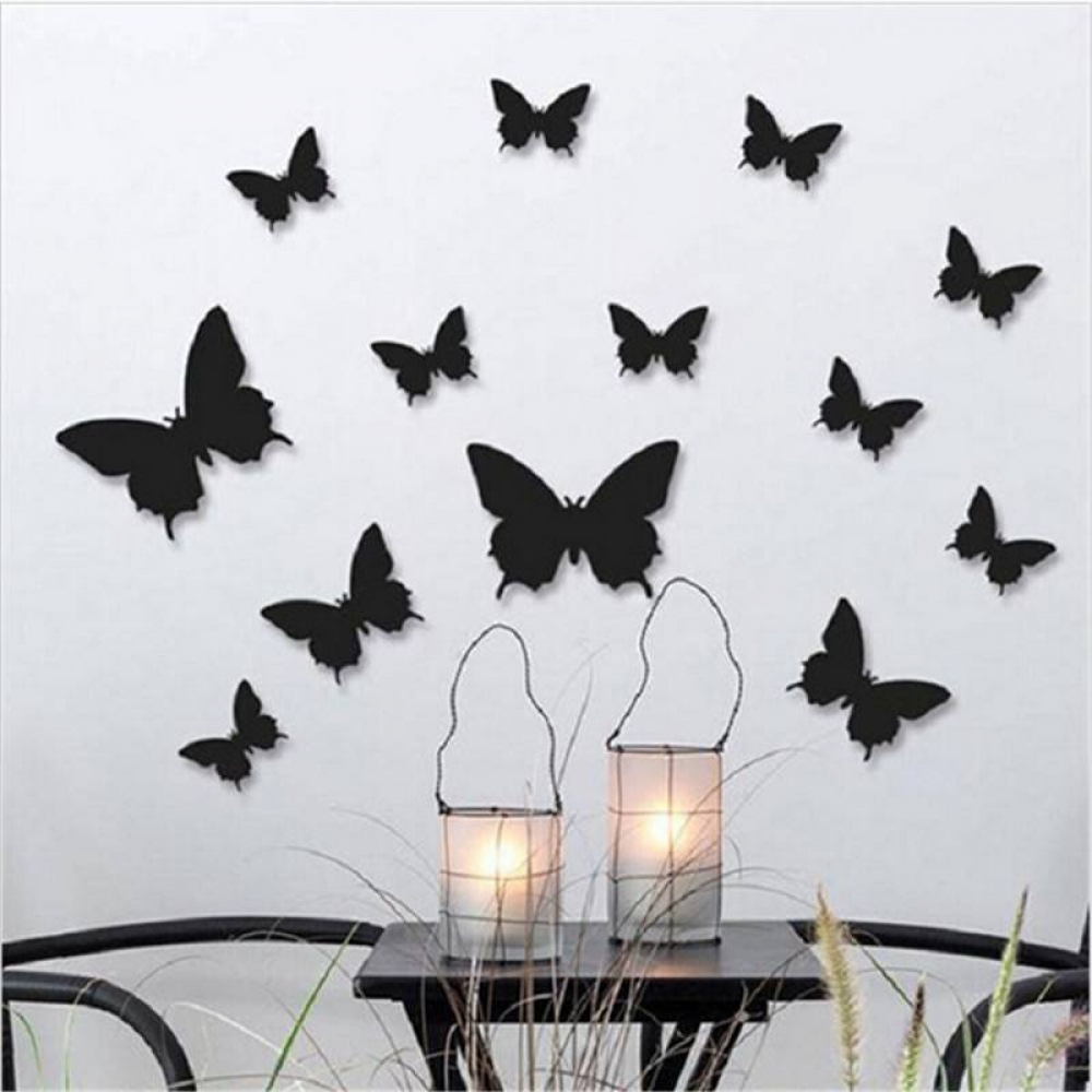 Colorful 3D Butterfly Wall Stickers Set #smile #photooftheday #sale