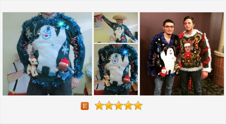 Custom 3-D Furry Fuzzy The Abominable Snowman Light up Tacky Ugly Christmas Sweater All sizes, S, M, L, XL, XXL, 1x, 2X, 3X, 4X #ugly #tacky #clothing #uglychristmassweater #officeparty #MerryChristmas   (Tweeted via )