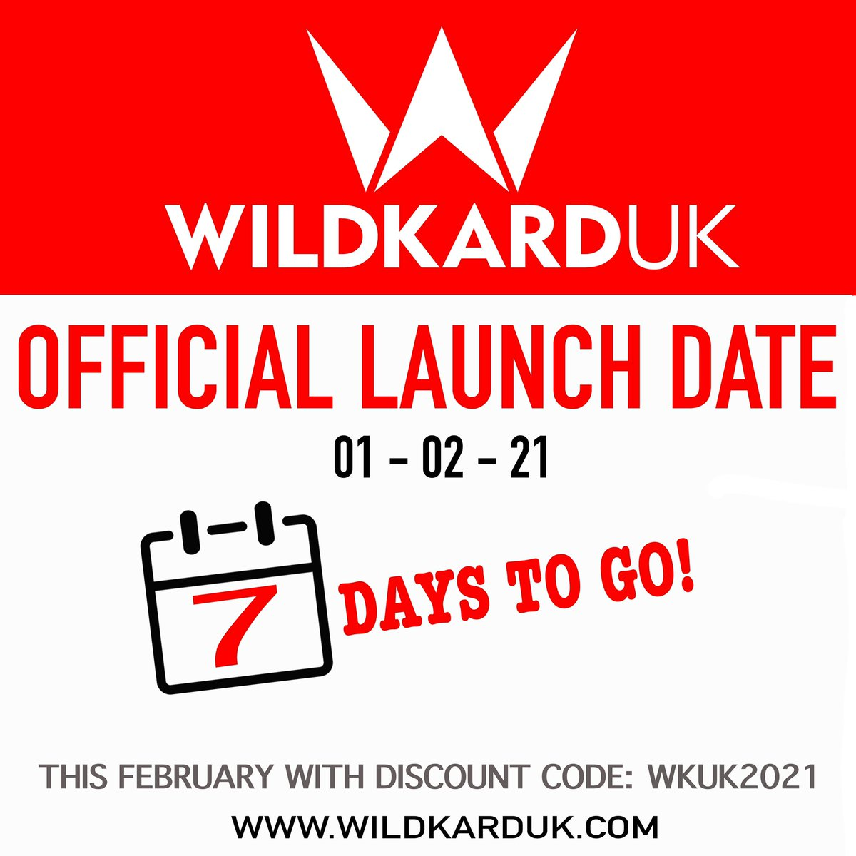 ITS OFFICIAL - FEB 1ST 2021!!! To celebrate our launch date we are offering 10% 💰 off all products for the entire month of February ❤️❤️❤️ just use our code: WKUK2021 💥 #wildkarduk #wkuk2021 #wkuk #2021 #hockey #power #clothing #apparel #uk #nevergiveup #raisingthegame