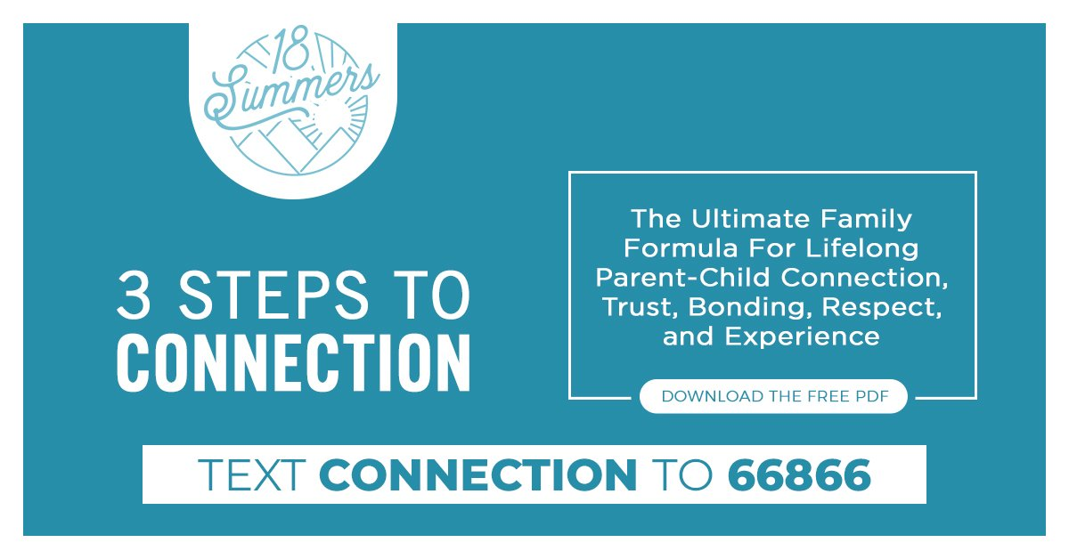Ready to deepen your relationship with your child? Download The 3 Simple Steps To Connect here:  or send a text to 66866   #18summers #havefaith #familytime #prioritize #familyboardmeeting #makeitcount