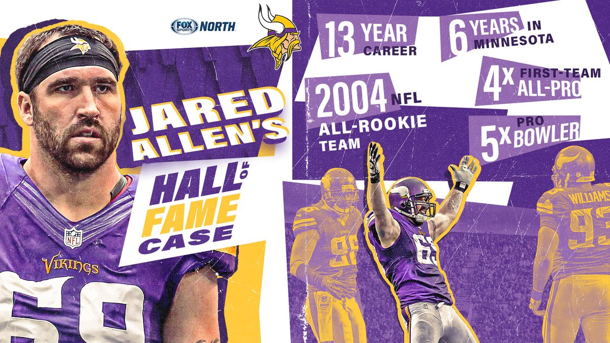 .@JaredAllen69 and his calf-roping sack celebration belong in the Hall of Fame. #Skol