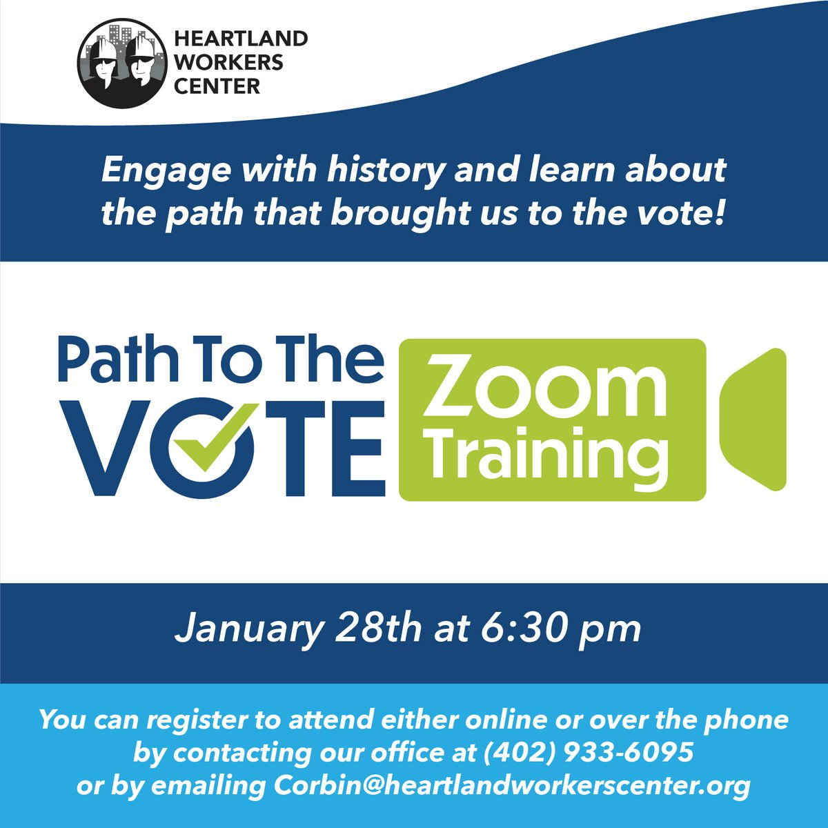 Participants will have the opportunity to engage with history and learn how voting has been a historical struggle for many people in the U.S., how we gained the rights we have today, and why your voice matters.   Your voice counts and impacts your family and your community! #vote