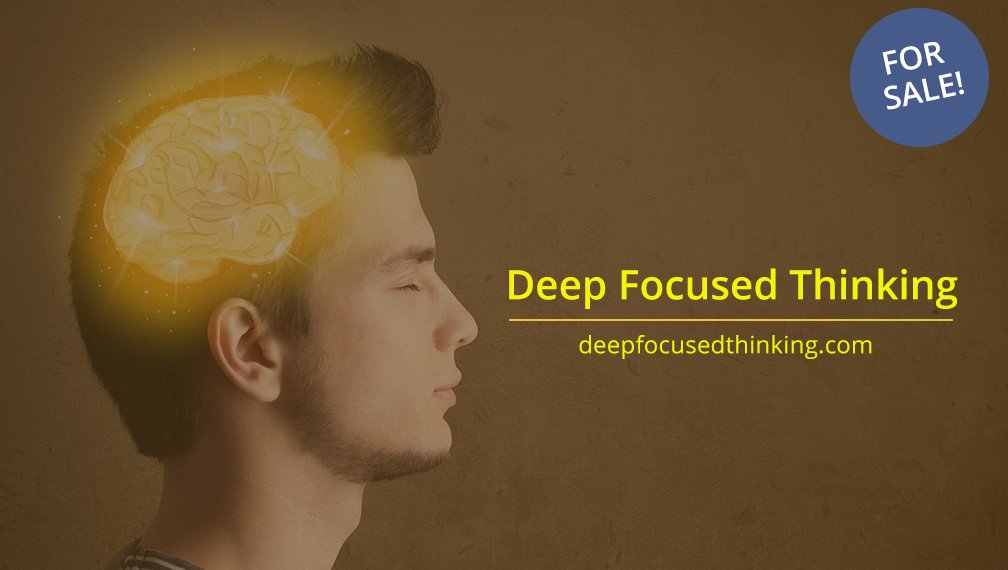 #DeepFocusedThinking is available at  @Undeveloped     Ideal for: #focus #Mindfulness #deepfocus #unshakeable #flowstate #deepwork #domainsforsale