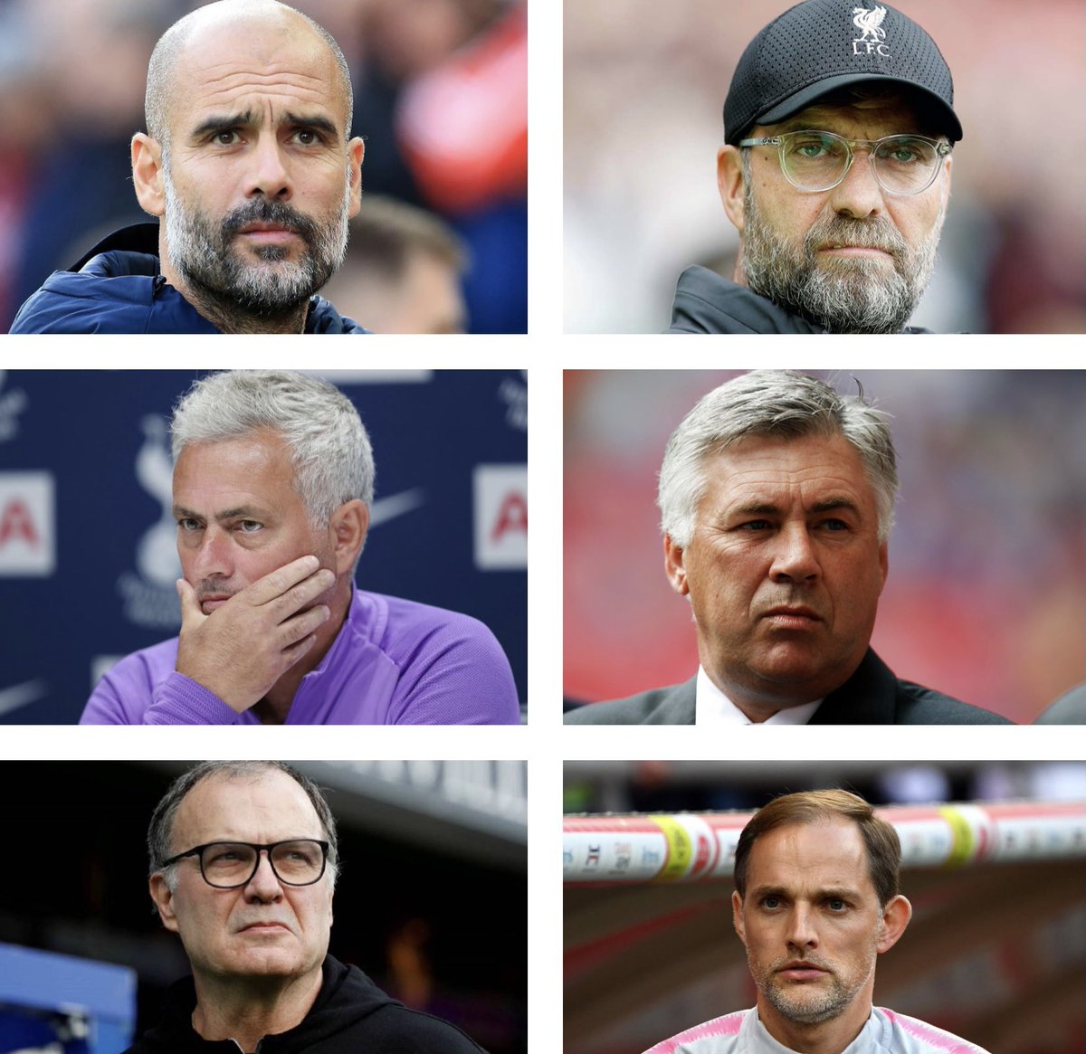 Elite English Premier League #PL managers! Excited for the seasons ahead 😇 #MCFC #LFC #THFC #EFC #LUFC #CFC