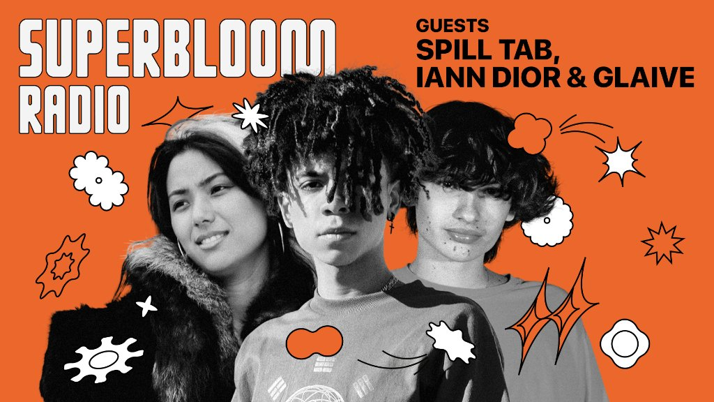 The #Superbloom playlist on Apple Music highlights young, risk-taking visionaries who think about music differently.  @travismills brings the playlist to life on Apple Music 1.  Listen to #Superbloom Radio with guests @ianndior, @glaiv3, and spill tab: