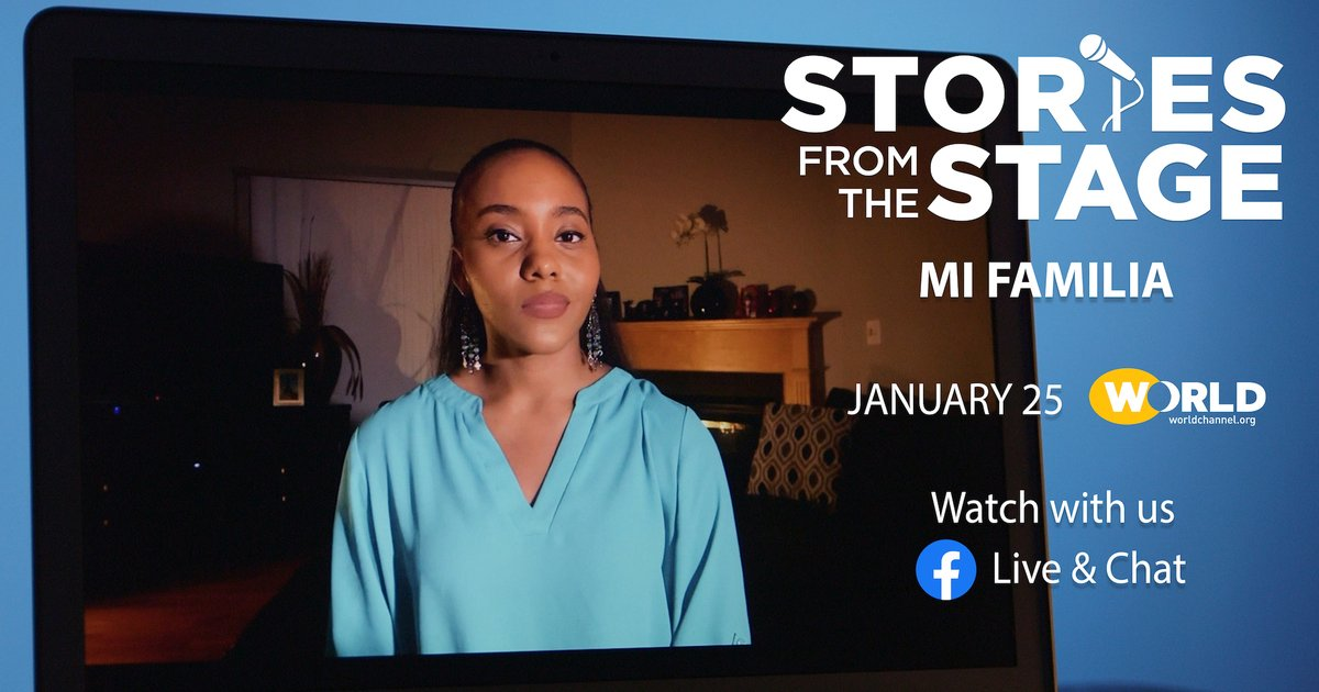 """If you owned the stage for one moment, what would you tell an audience about you & your #family? JOIN #storiesfromthestage and guests for storytelling about """"Mi Familia"""" TONIGHT at 9:30/8:30c. Follow and get your reminder about this event 👉🏽"""