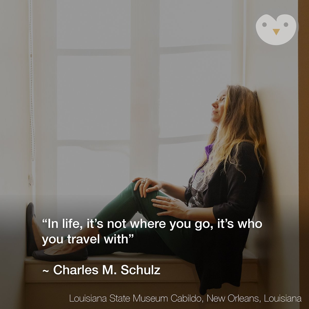 """""""In life, it's not where you go, it's who you travel with"""" ~ Charles M. Schulz #travelquote #traveler #sojournofapenguin  #charlesmschulz #neworleans #cabildo #louisianastatemuseum #louisiana  #travel #travelphotography #travelphotographer #travelblogger #travelgram"""