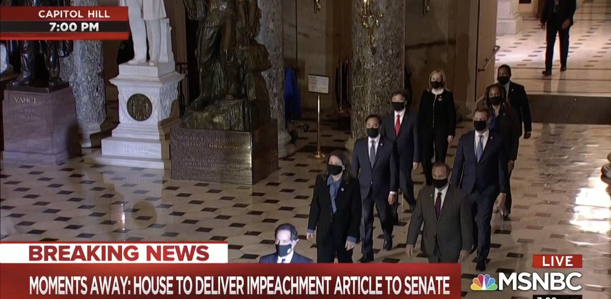 For only the fourth time in American history, today we have the solemn responsibility of delivering an Article of Impeachment to the United States Senate.  We are ready to present our case and defend our Constitution. https://t.co/pnyiM4AsN0