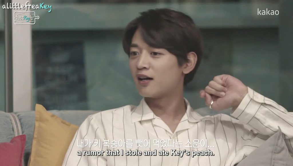 """""""He's exactly like us, I love it."""" Always here for a #Minkey """"us"""" accompanied by the fondest of smiles from Minho. Wow, I knew this would be amazing when I finally watched it in its entirety, but wow, MY HEART. Fully 🤣 & 😭. #SHINee #Minho #Key 🍑 #CheongdamKEYchin #otp #family"""