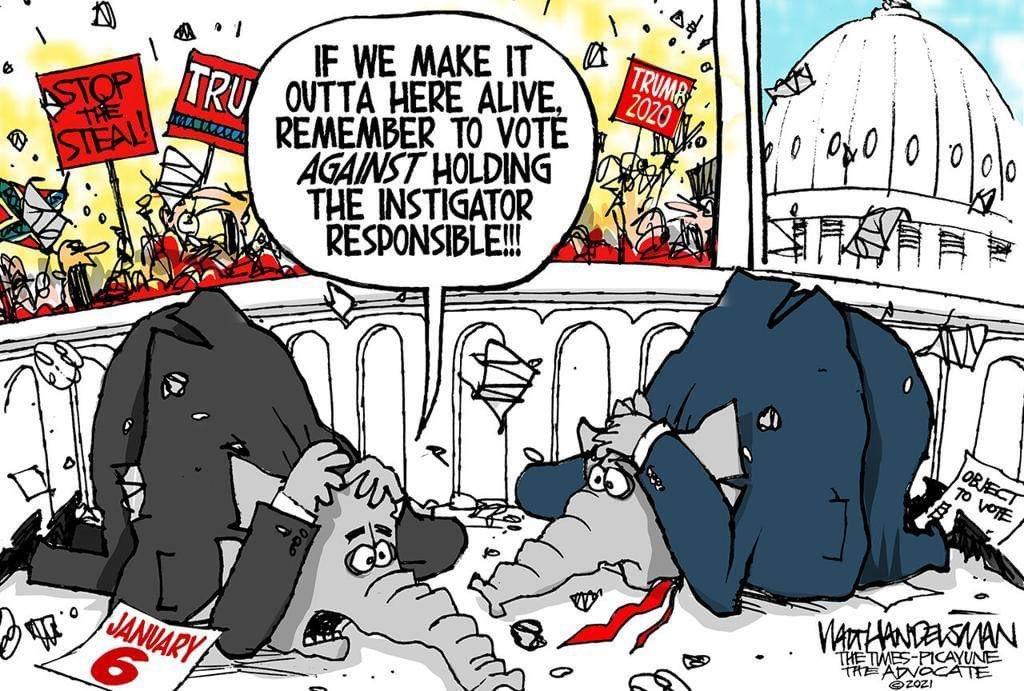 RT @Walt_Handelsman: For more cartoons www. https://t.co/5BEP6cE1Mr #Trump #ImpeachmentDay @GOP @SenateGOP https://t.co/QeGIkDBMOy