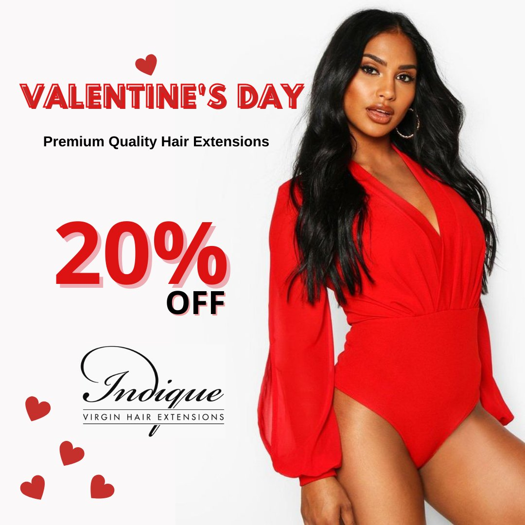 Valentine's Day is approaching! Take 20% Off on your entire order | Sign up now & order soon to ensure it arrives by Feb 14th. Sign up:   #indiquehair #indiquehairsale #iloveindiquehair #hair #hairstyle #haircut #hairstyles #hairstylist #haircolor