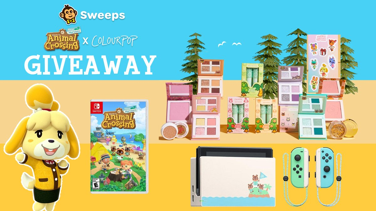 🏝️ #AnimalCrossing Giveaway 🏝️  Win a #NintendoSwitch + Animal Crossing: New Horizons + the ColourPop x Animal Crossing: New Horizons Collection.  To enter: 🏝️ Retweet 🏝️ Reply with #AnimalCrossingxColourPop  🏝️ Follow me  Winner drawn in 72 hours.