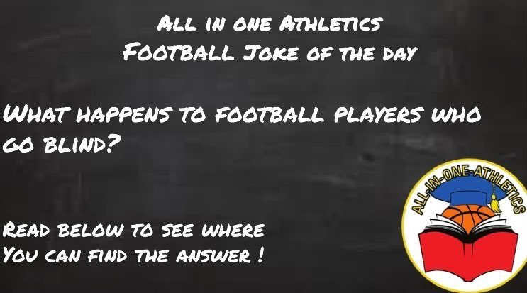 Hopefully people don't hate me for this upcoming punchline...it's a joke relax...  #allinoneathletics #football #jokeoftheday #explore #Explorepage #laugh #funny