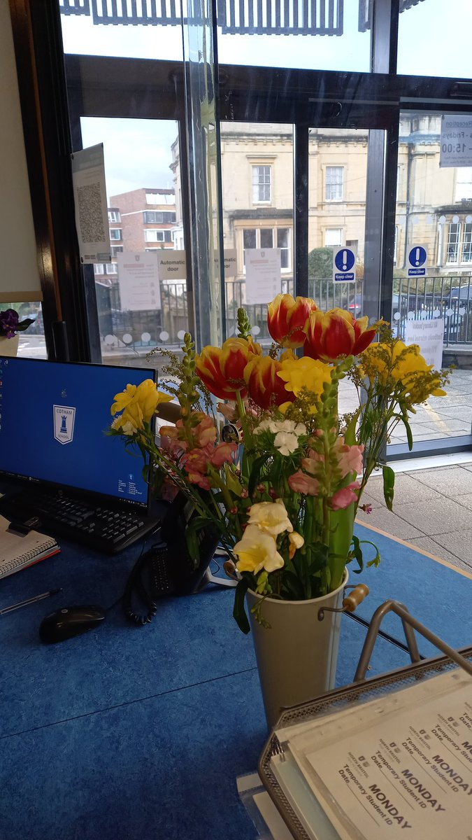 Beautiful flowers sent to us by @BloomandWild as a gift to brighten up the school for our on-site staff and students. Thank you so much! They really did bring some cheer!  #randomactsofkindness #PayItForward #KindnessMatters #wellbeing #PositiveVibes #MentalHealthMatters