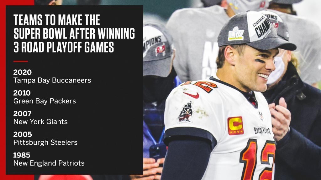 Tom Brady and the Buccaneers' road to a Super Bowl has only been accomplished by few 👏