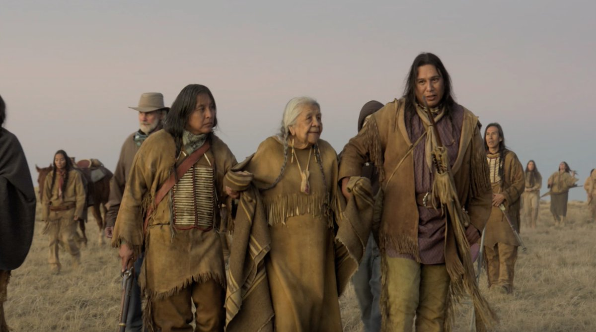 "Tom Hanks on working with the Kiowa Nation, ""It was important, to us, that they were there, and I think it had weight to them that they were a part of the process."" Watch the new drama  #NewsOfTheWorld now on the Apple TV app."