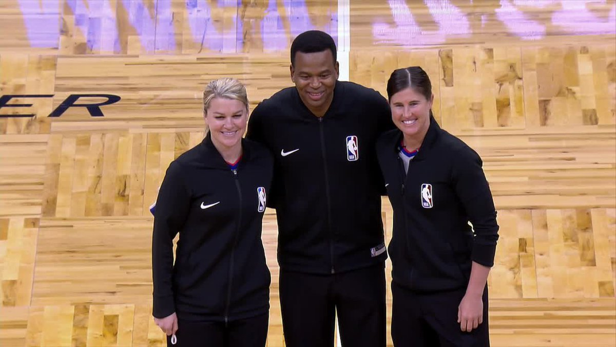 Natalie Sago and Jenna Schroeder become the first two women to officiate the same NBA game. 🙌