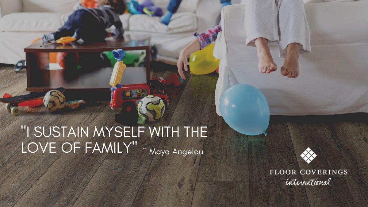 I sustain myself with the love of family.  ~ Maya Angelou  #FCIwindsor #YQG #MondayMotivation   #flooring #homerenovation #familytime