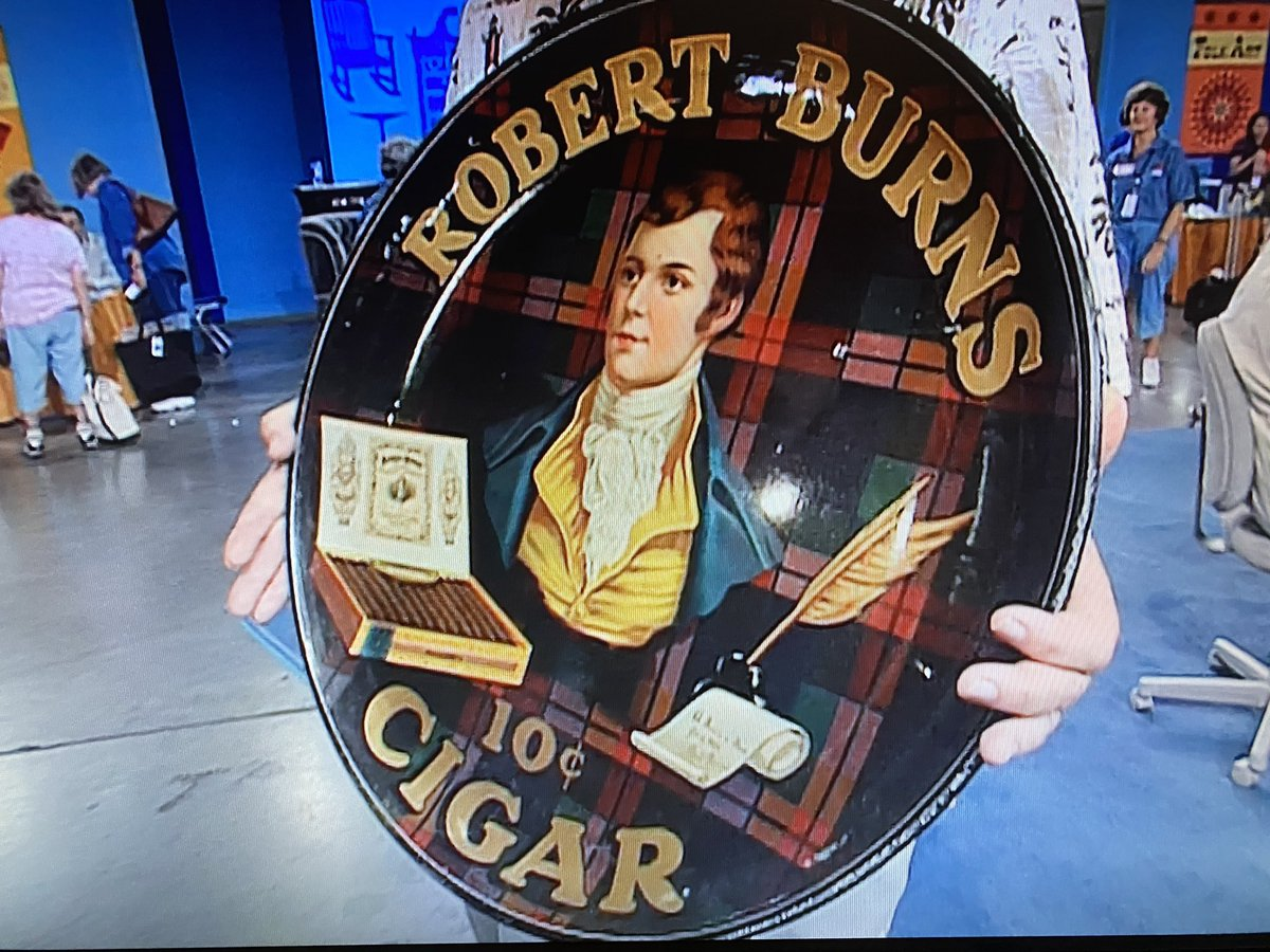 @RoadshowPBS is looking very clever indeed. As many people raise a glass this very evening to the memory of Robbie Burns, we put this on! Slainte! (It's as if we planned it that way!) #BurnsNight2021 #AuldLangSyne #AntiquesRoadshow