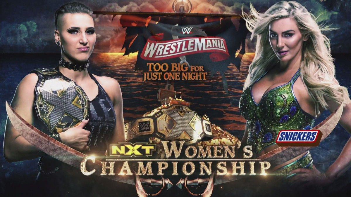This is why @MsCharlotteWWE calls herself ms wrestlemania #WWERaw 2/2