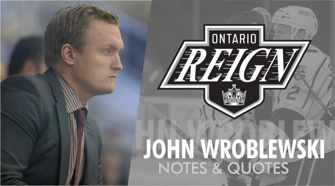 Reign Fall 4-2, Coach Wrobo Postgame Quotes   #AHL  #hockeytwitter