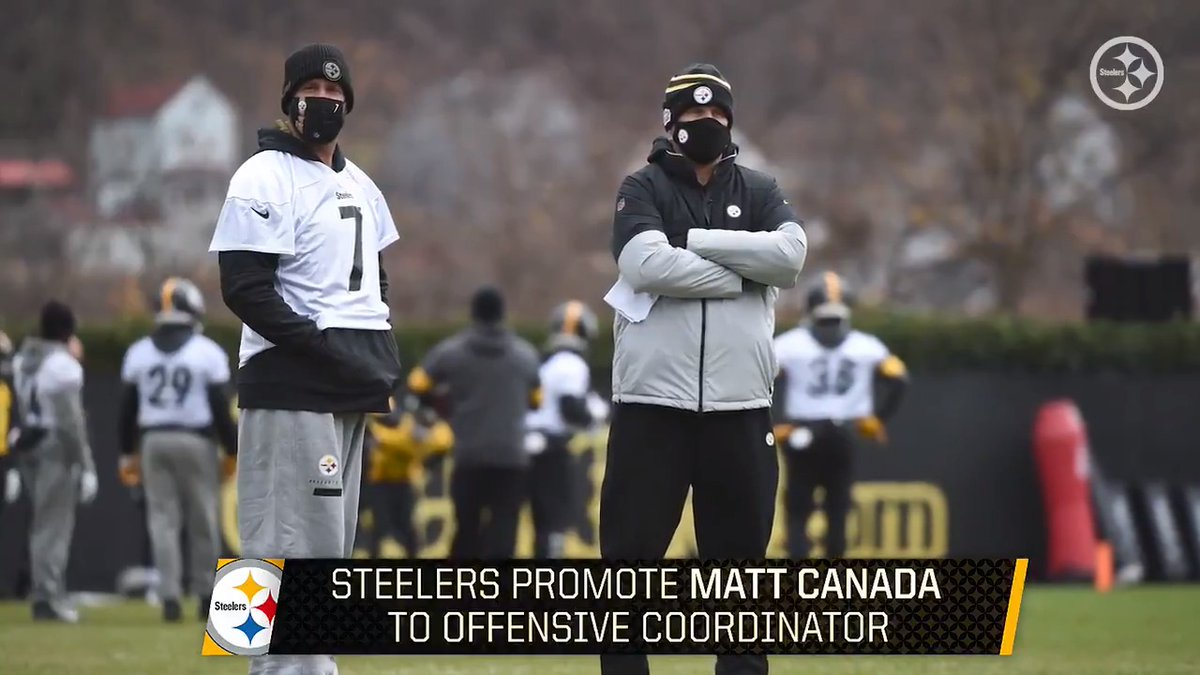 After one season as our quarterbacks' coach, Matt Canada was promoted to offensive coordinator.